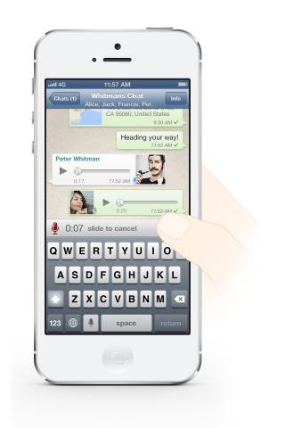 voice message on WhatsApp
