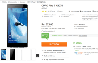 oppo find 7 india