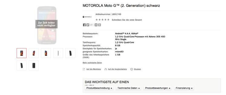 New Moto G Moto X specs