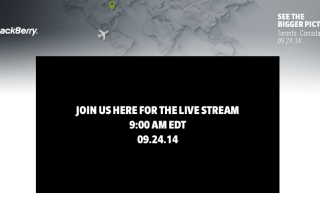 BlackBerry Passport Live Stream event