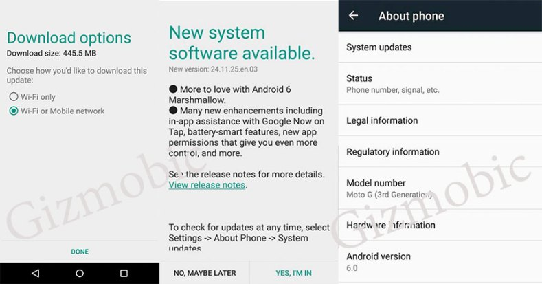 moto g3 android 6.0 update marshmallow