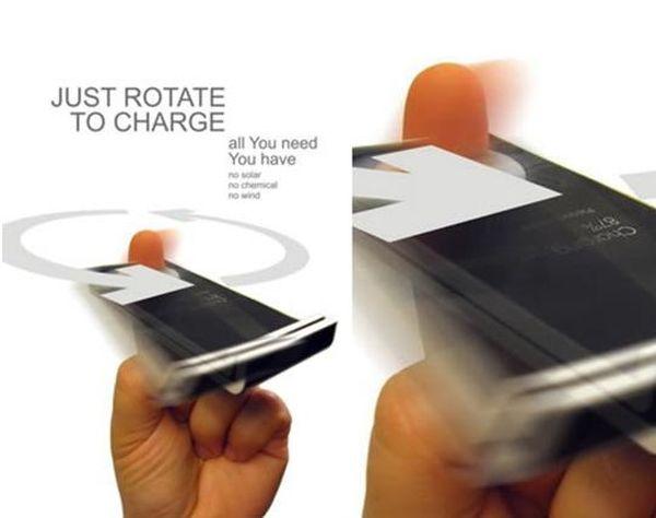 Mechanical Mobile Spin Finger Phone