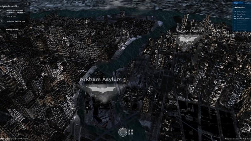 Gotham em 3D.