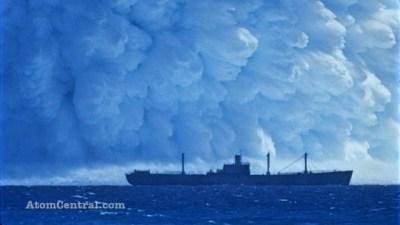 Explosão atômica subaquática.