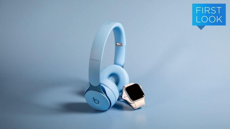Foe Beats Solo Wireless ao lado de um Apple Watch