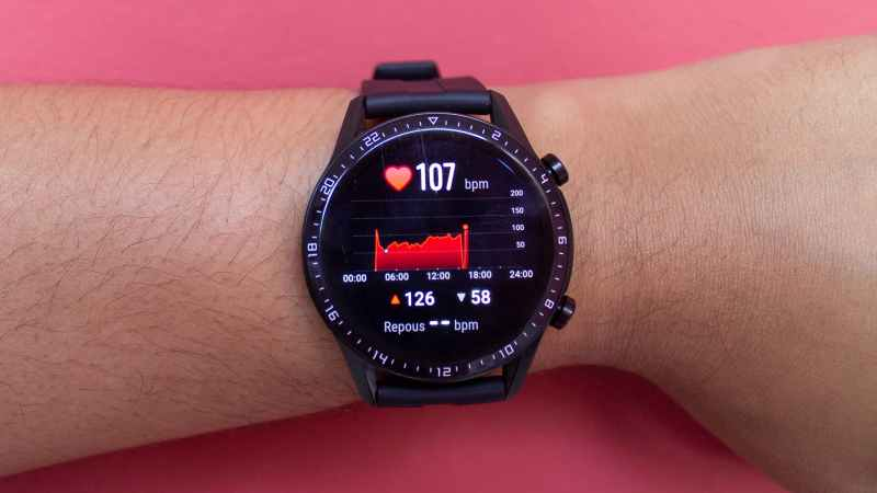 Medidor de batimento cardíaco do relógio Huawei Watch GT2