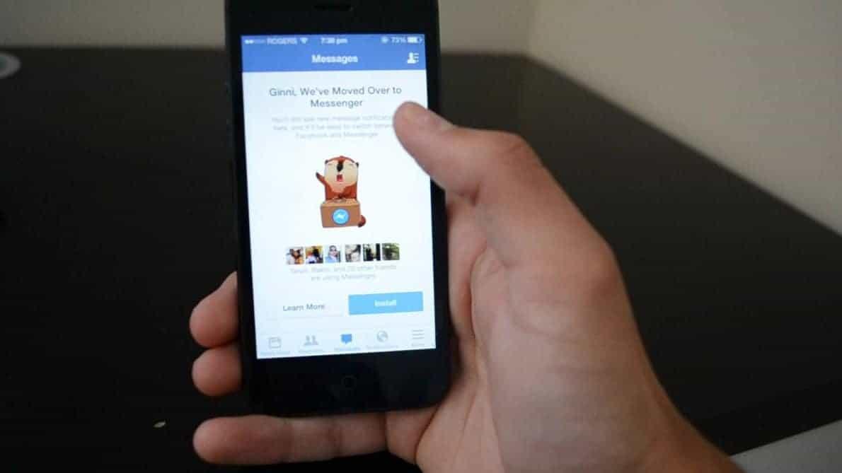 Aplikasi Facebook Messenger.