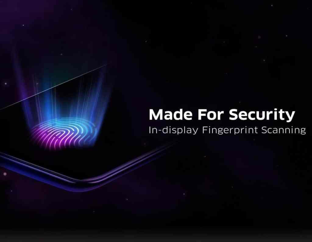 Sensor fingerprint pada layar