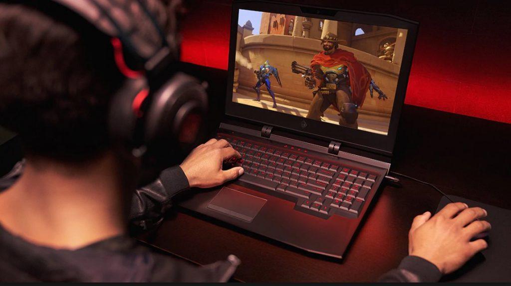 notebook gaming ilustrasi