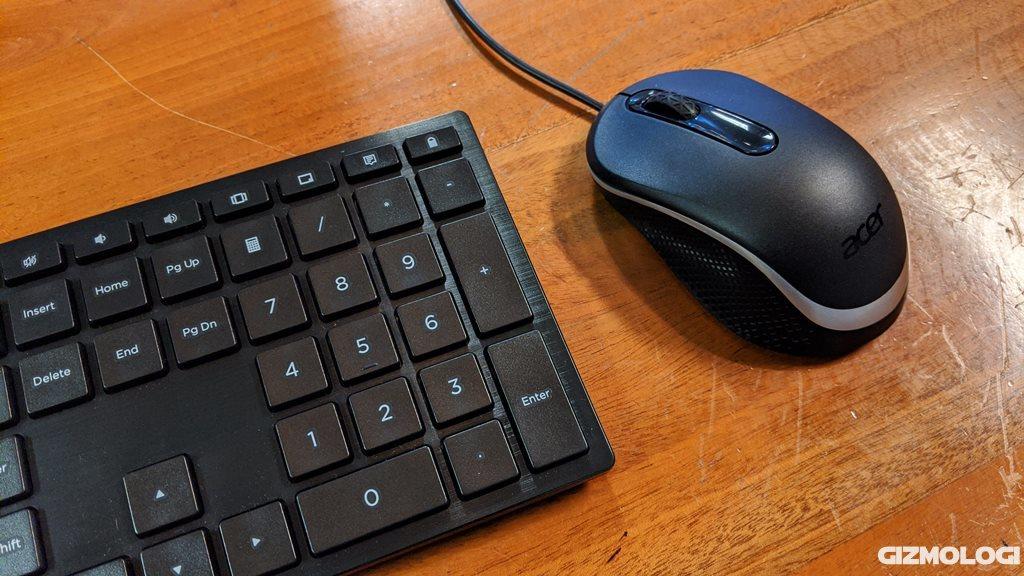 Keyboard dan mouse Acer Aspire C22