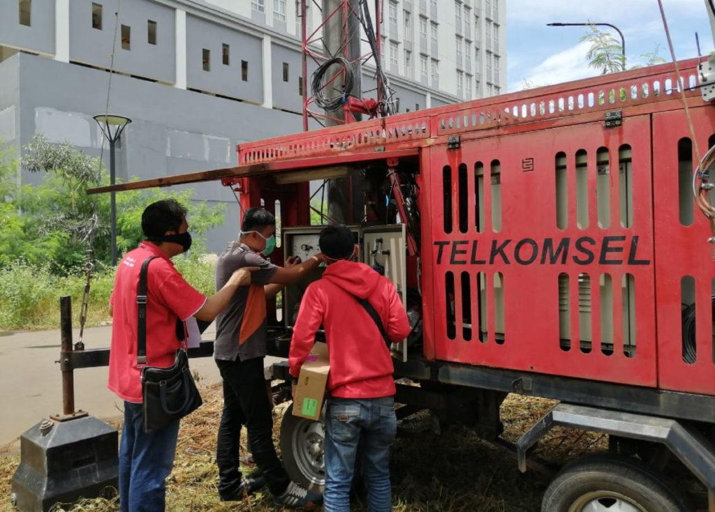 Telkomsel Mobile BTS RS Darura New Normal