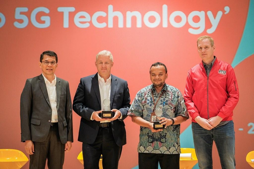 Pihak Indosat Ooredoo bersama Ericsson Indonesia dalam perayaan ulang tahun Indosat ke-51, 2018 lalu.