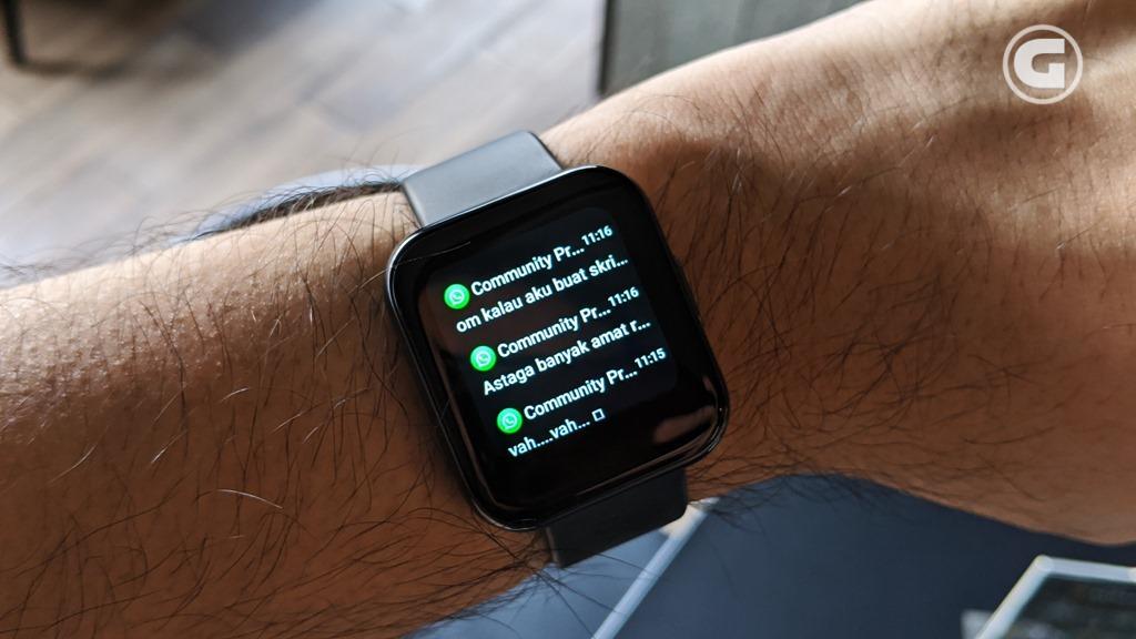 tampilan notifikasi realme Watch