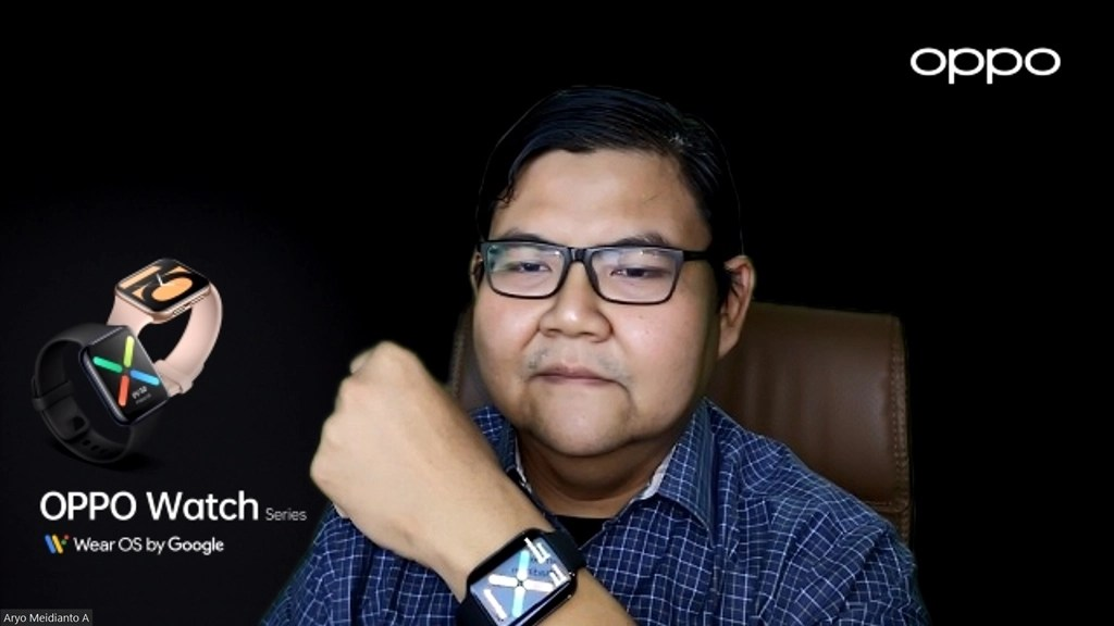 Aryo Meidianto A bersama OPPO Watch
