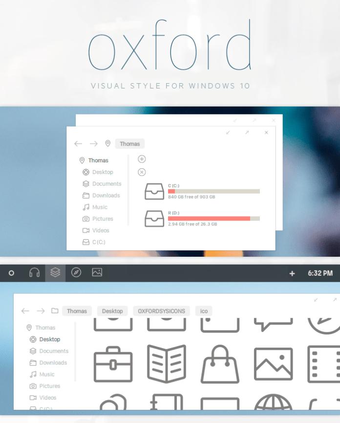 Clean design theme for windows 10