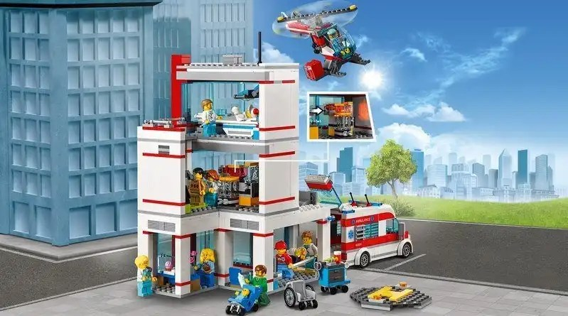 LEGO City Hospital (set 60204) Rear details