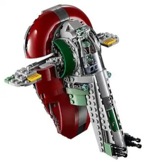 LEGO Star Wars 75222 Betrayal At Cloud City - Slave 1 flying