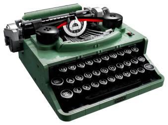 LEGO Ideas Typewriter (21327) - front angle 2