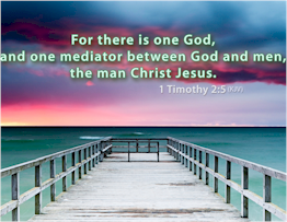 God and man are brought together in Christ, the one mediator who could accomplish the reconcilliation.