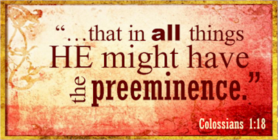Diotrephes sought preeminence; Jesus already has it! Too many times people seek what is already reserved for another. Nothing good can come from this.