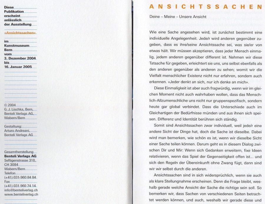ANSICHTSSACHEN 2004-5
