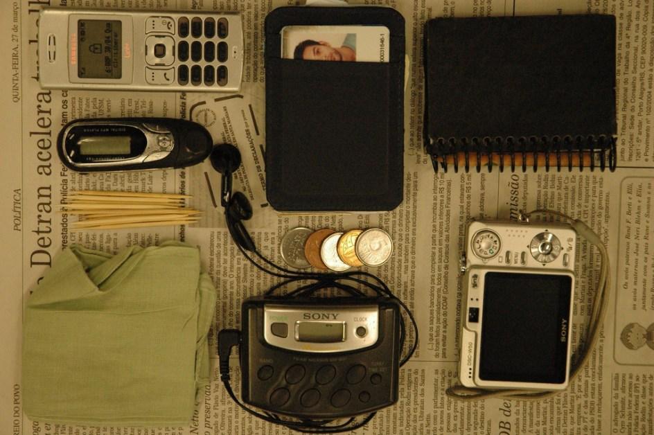 Equipamentos de um jornalista. Foto_Ramiro Furquim