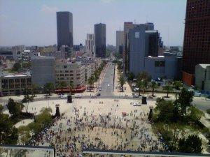 Avenida de la República desde arriba