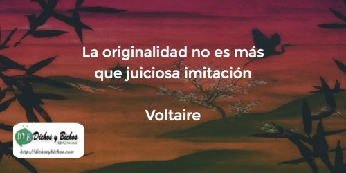Originalidad - Voltaire