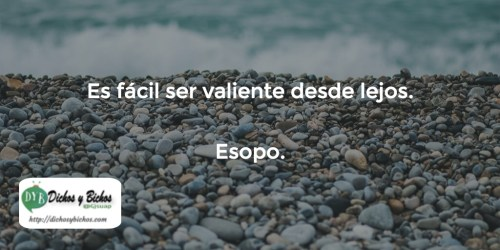 Valentía - Esopo