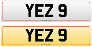 YEZ 9 NUMBER PLATE