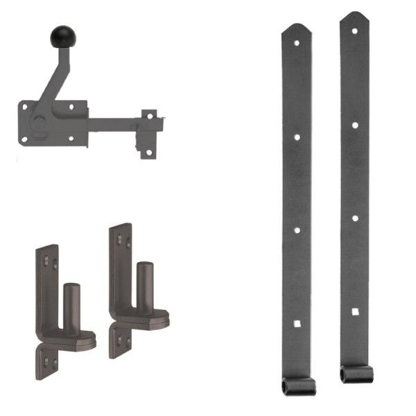 Türbeschlag-Standard schwarz beschichtet 11612