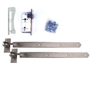 Türbeschlag-einstellbare-Baender-blau-verzinkt