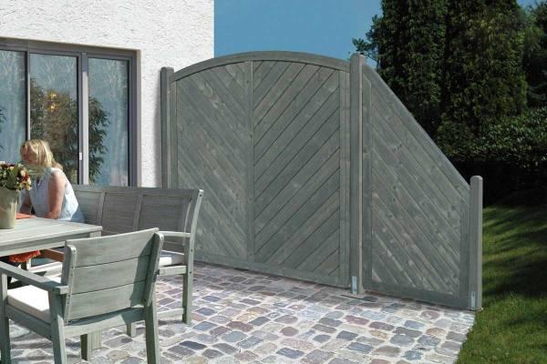 Sichtschutzelement-Hera-granitfarben-lasiert