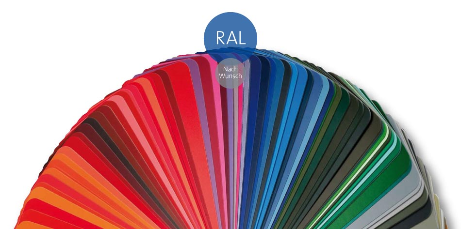 Pfosten aus Aluminium in Wunschfarbe