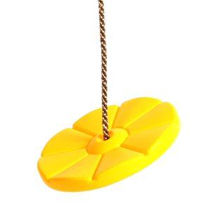 Tellerschaukel aus Kunststoff gelb