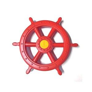 Piraten-Steuerrad-rot
