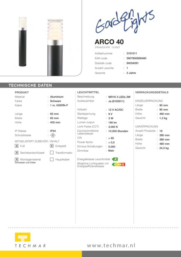 LED Standleuchte Arco 40