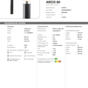 LED Standleuchte Arco 60
