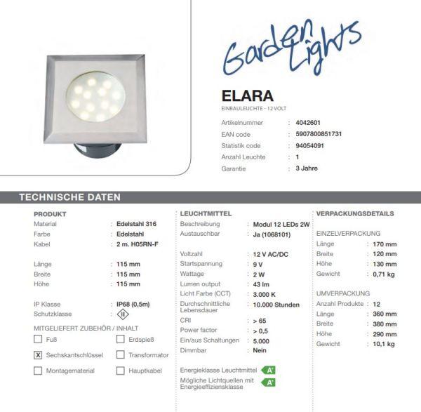 LED Bodeneinbauleuchte Elara