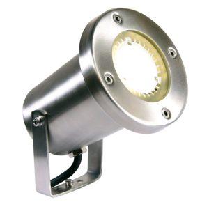 LED Strahler Protego aus Edelstahl