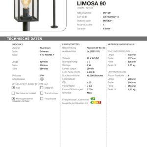 Standleuchte Limosa 90