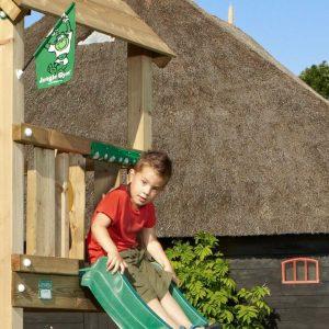 Spielturm Club mit Rutsche und Holzdach