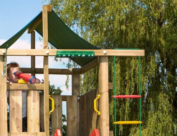 Spielturm Lodge Strickleiter