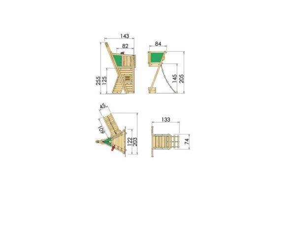 Spielturmerweiterung Boat Module Abmessungen