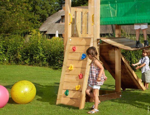 Spielturmerweiterung Bridge Module Kletterwand