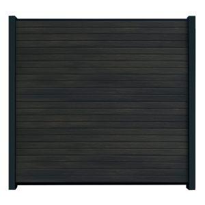 Rhombus-Steckzaun-schwarz-WPC-Element