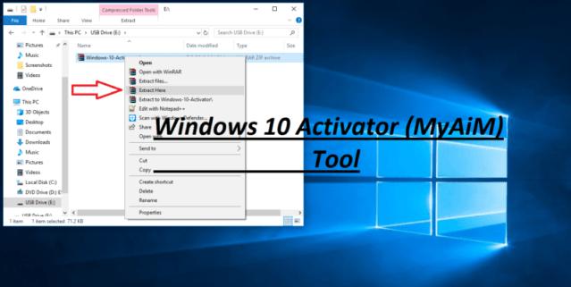 Windows 10 Activator (MyAiM) Tool Made by Vikas Chaudhary
