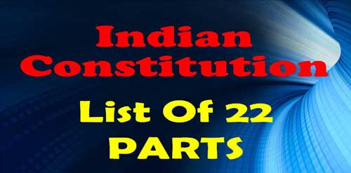 1 TO 22 Parts of Indian Constitution