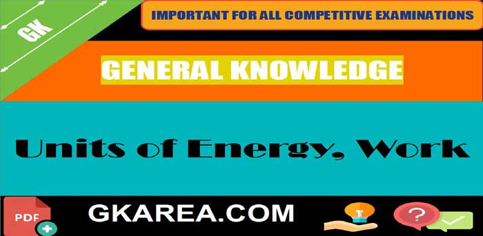 What is the unit of Work or Energy?