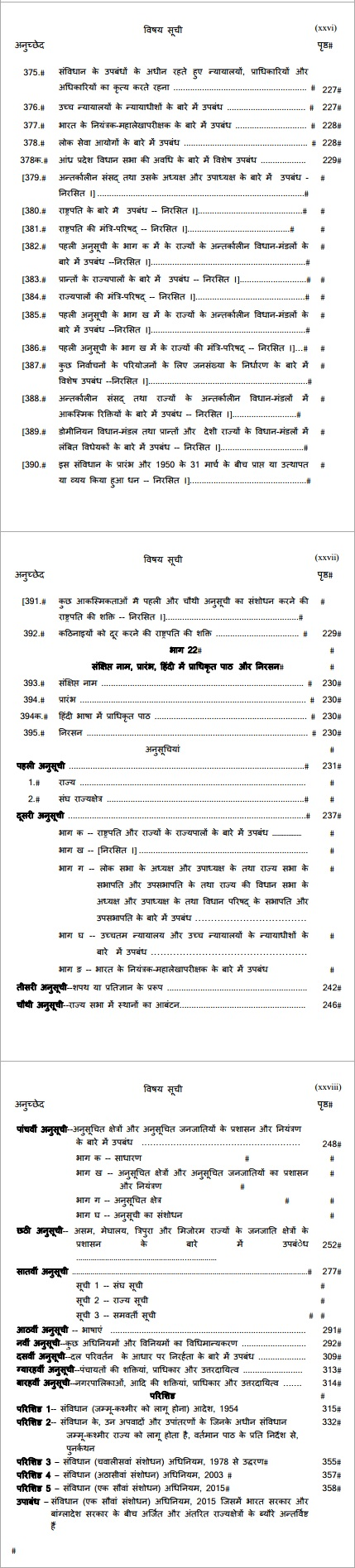 Articles 375 to end in Hindi